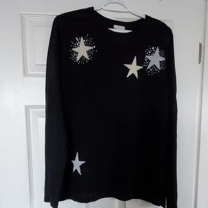 Black Sweater with Gold/Silver Stars